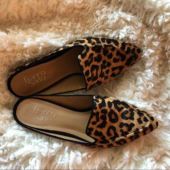 Franco Sarto Shoes   Animal Print Mules